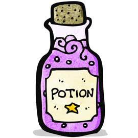 Chasse au trésor : liste d'ingrédients pour potion magique