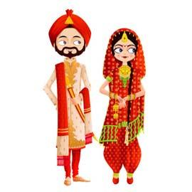 Carton d'invitation de style indien