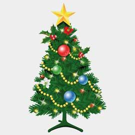 Ange, père Noël, et lutin pour décorer le Sapin
