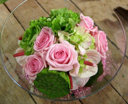 Id es de vases garnir anniversaire enfant - Composition florale vase en verre ...