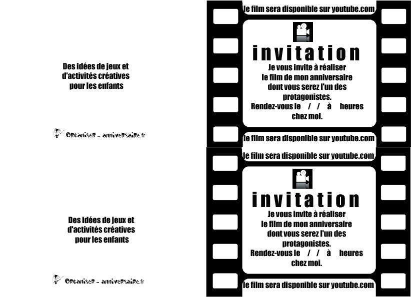 Gut bekannt Carte d'invitation d'anniversaire | Anniversaire enfant WE42