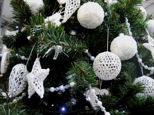 Boules De Noel Pour Decoration En Crochet