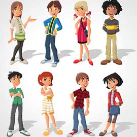 Trois jeux pour un groupe de jeunes de 11-12 ans