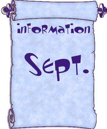 Actualités du mois de septembre