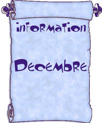 Actualités du mois de décembre