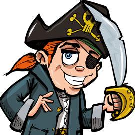 carte d'anniversaire pour les pirates en herbe
