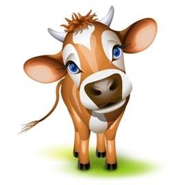Masque de vache à imprimer