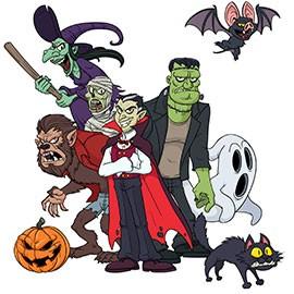 Masque papier pour fête d'halloween